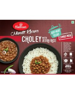 Choley with Jeera rice (375g) - Just Heat to Eat