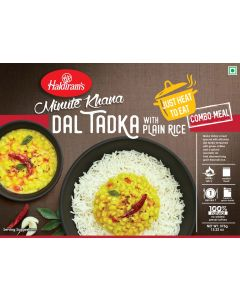 Yellow Dal Tadka With Plain Rice (375g) - Just Heat to Eat
