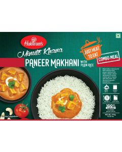 PANEER MAKHANI+PlAIN RICE 375G - Just Heat to Eat